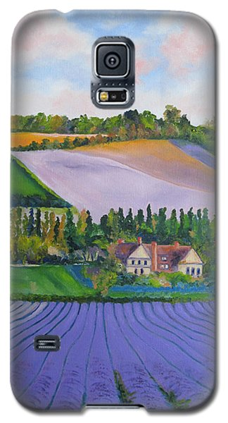 Castle Farm Shoreham Kent Lavender Fields England Galaxy S5 Case by Lisa Boyd