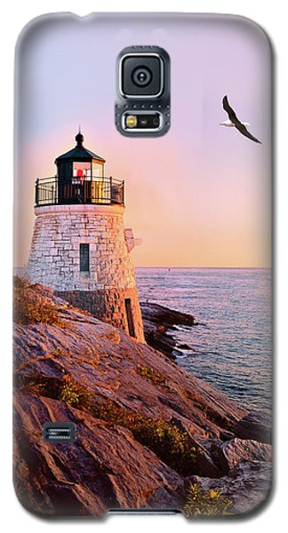 Castle Hill Lighthouse 2 Newport Galaxy S5 Case by Marianne Campolongo