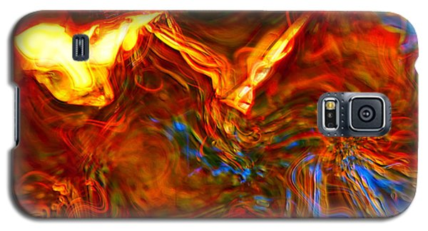 Galaxy S5 Case featuring the digital art Cat And Caduceus In The Matmos by Richard Thomas
