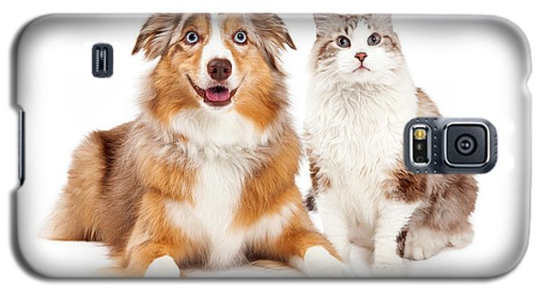 Cat And Happy Dog Together Galaxy S5 Case