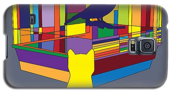 Cat Bird Pop Galaxy S5 Case
