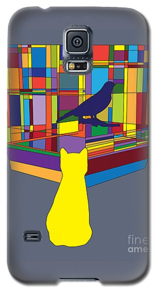 Cat Bird Pop Galaxy S5 Case by Megan Dirsa-DuBois