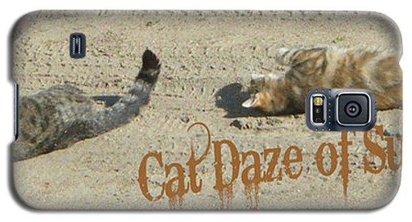 Cat Daze Of Summer Galaxy S5 Case