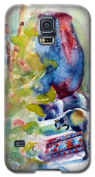 Cat Drinking Fountain Galaxy S5 Case