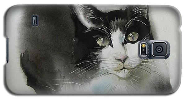 Cat In Black And White Galaxy S5 Case