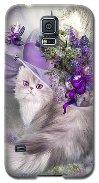 Cat In Easter Lilac Hat Galaxy S5 Case