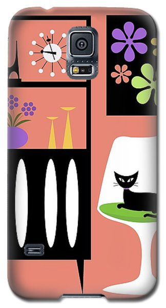 Cat In Pink Room Galaxy S5 Case