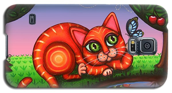 Cat In Reflection Galaxy S5 Case