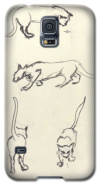 Cat Lines Galaxy S5 Case