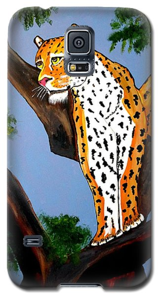 Cat On A Hot Wood Tree Galaxy S5 Case