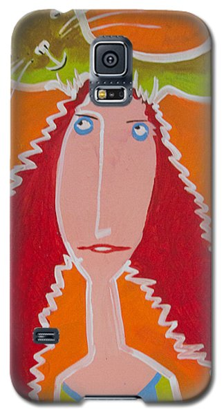 Galaxy S5 Case featuring the painting Cat On My Head by Artists With Autism Inc