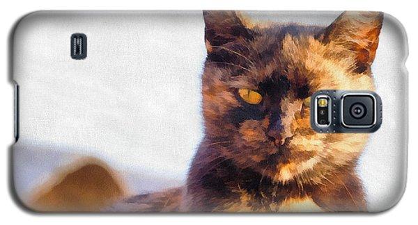 Cat Portrait Paint Galaxy S5 Case