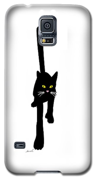 Cat Stepping Forward Galaxy S5 Case by The Art of Marsha Charlebois