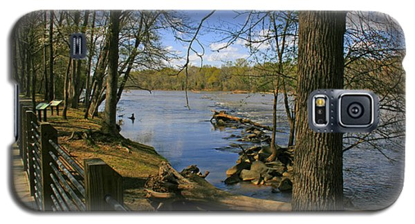 Galaxy S5 Case featuring the photograph Catawba River Walk by Andy Lawless