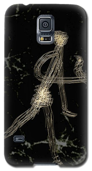 Galaxy S5 Case featuring the digital art Catch A Wild Bird by Asok Mukhopadhyay