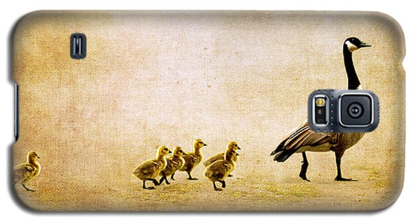 Galaxy S5 Case featuring the photograph Catch Up Little Gosling by Lisa Knechtel