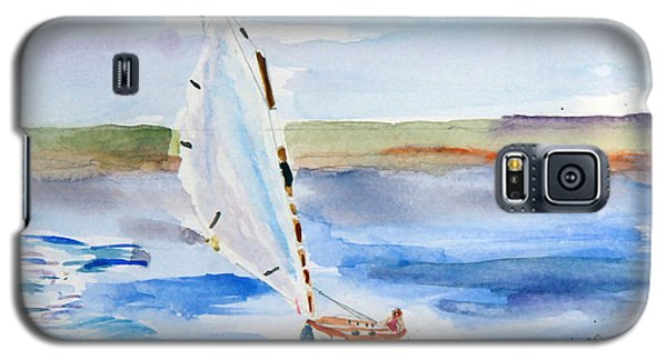 Galaxy S5 Case featuring the painting Catching The Wind by Michael Helfen