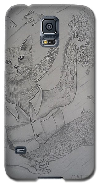 Galaxy S5 Case featuring the drawing Catfishgiraffeamouse by Richie Montgomery