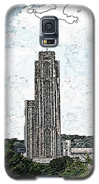 Cathederal Of Learning Artistic Brush Galaxy S5 Case by G L Sarti