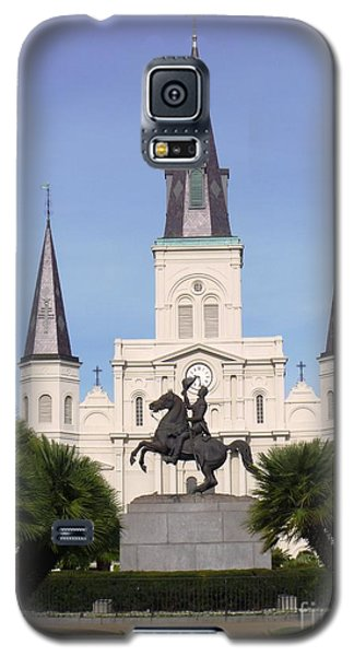 Galaxy S5 Case featuring the photograph Cathedral In Jackson Square by Alys Caviness-Gober