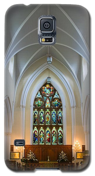 Galaxy S5 Case featuring the photograph Cathedral Interior by Jane McIlroy
