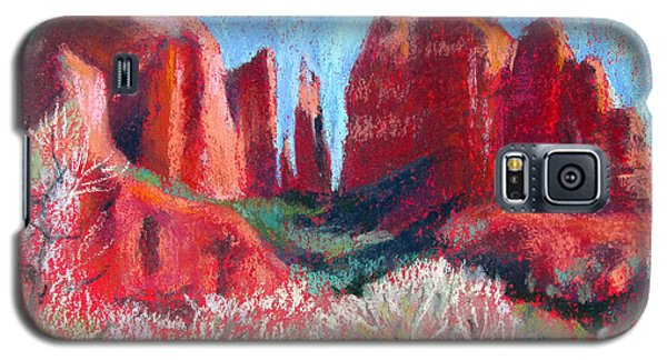 Cathedral Rock On Red Paper Galaxy S5 Case