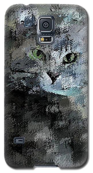 Galaxy S5 Case featuring the digital art Cats Eye by David Lane