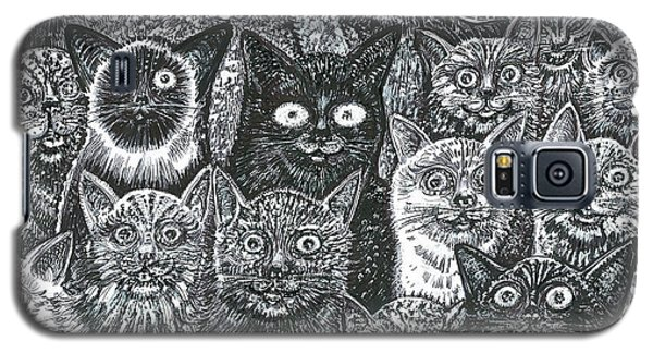 Cats Eyes Galaxy S5 Case by Giovanni Caputo