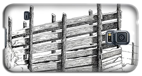 Galaxy S5 Case featuring the painting Cattle Chute Ink by Richard Faulkner
