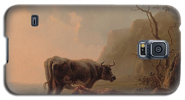 Cattle In An Italianate Landscape Galaxy S5 Case by Jacob van Strij
