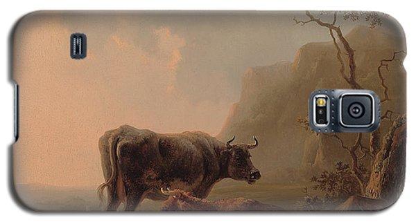 Cattle In An Italianate Landscape Galaxy S5 Case by Jacob van Strij