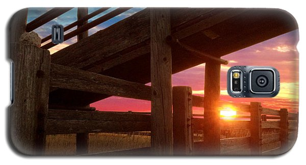 Cattle Pens Galaxy S5 Case by Rod Seel