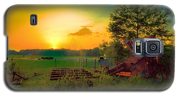 Cattle Ranch Sundown Galaxy S5 Case by Lewis Mann