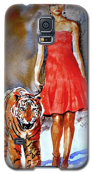 Galaxy S5 Case featuring the painting Catwalk by Steven Ponsford