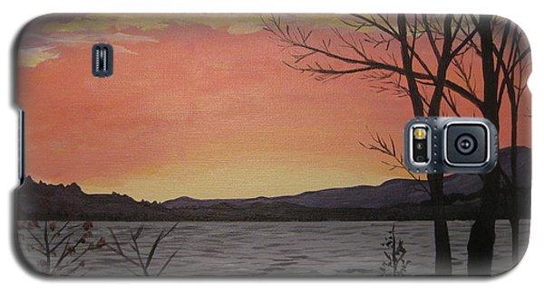 Caucomgomoc Lake Sunset In Maine Galaxy S5 Case
