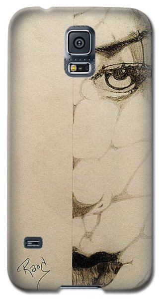 Galaxy S5 Case featuring the drawing Caught In The Web by Rand Swift