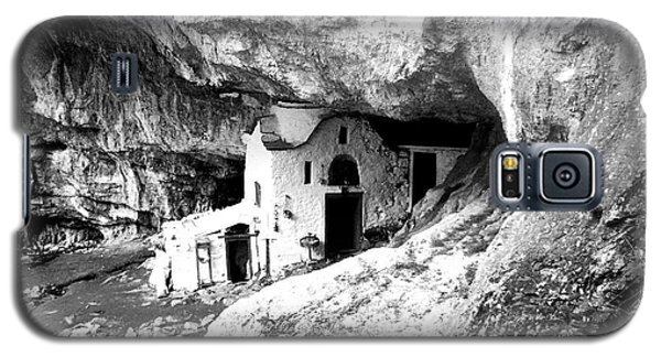 Galaxy S5 Case featuring the photograph cave church on Mt Olympus Greece by Nina Ficur Feenan