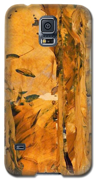 Galaxy S5 Case featuring the painting Cave Of Gold by Nancy Kane Chapman