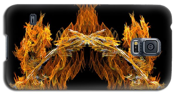 Galaxy S5 Case featuring the digital art Cave Of The Fire Creature by R Thomas Brass