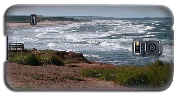 Galaxy S5 Case featuring the photograph Cavendish Prince Edward Island Seascape by Joyce Gebauer