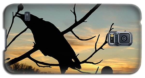 Cawcaw Over Sunset Silhouette Art Galaxy S5 Case