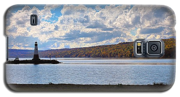 Galaxy S5 Case featuring the photograph Cayuga Lake In Colorful Fall Ithaca New York IIi by Paul Ge