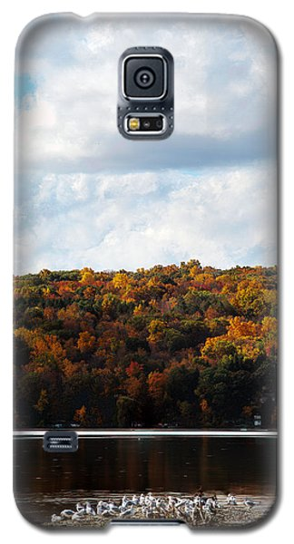 Galaxy S5 Case featuring the photograph Cayuga Lake In Colorful Fall Ithaca New York  by Paul Ge