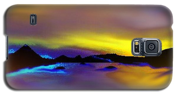 Galaxy S5 Case featuring the painting Cebu Sunset by Yul Olaivar