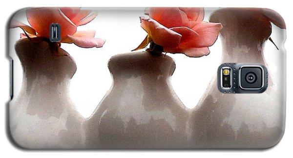 Cecil Brunner Roses  Galaxy S5 Case by Karen Molenaar Terrell