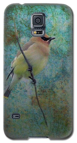 Cedar Waxwing Galaxy S5 Case by I'ina Van Lawick
