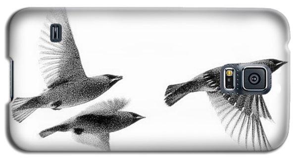 Cedar Waxwings Galaxy S5 Case by Michael Dohnalek