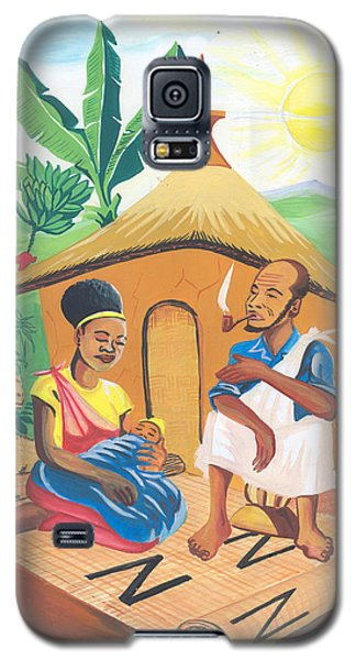Galaxy S5 Case featuring the painting Celebration Of The Nativity In Rwanda by Emmanuel Baliyanga