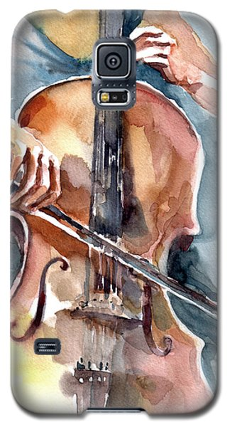 Galaxy S5 Case featuring the painting Cellist by Faruk Koksal
