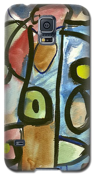 Galaxy S5 Case featuring the painting Cello In Blue by Stephen Lucas